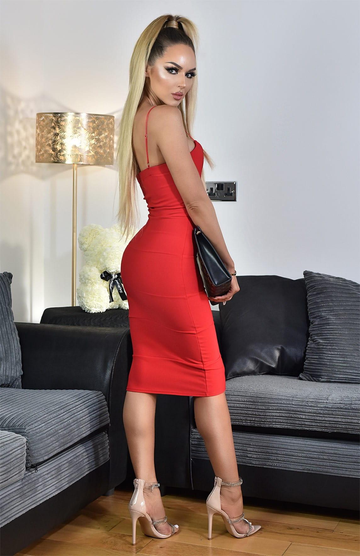 a556243571 Sukienka bandażowa ołówkowa midi czerwona  Sukienka bandażowa ołówkowa midi  czerwona  zulared4.jpg ...