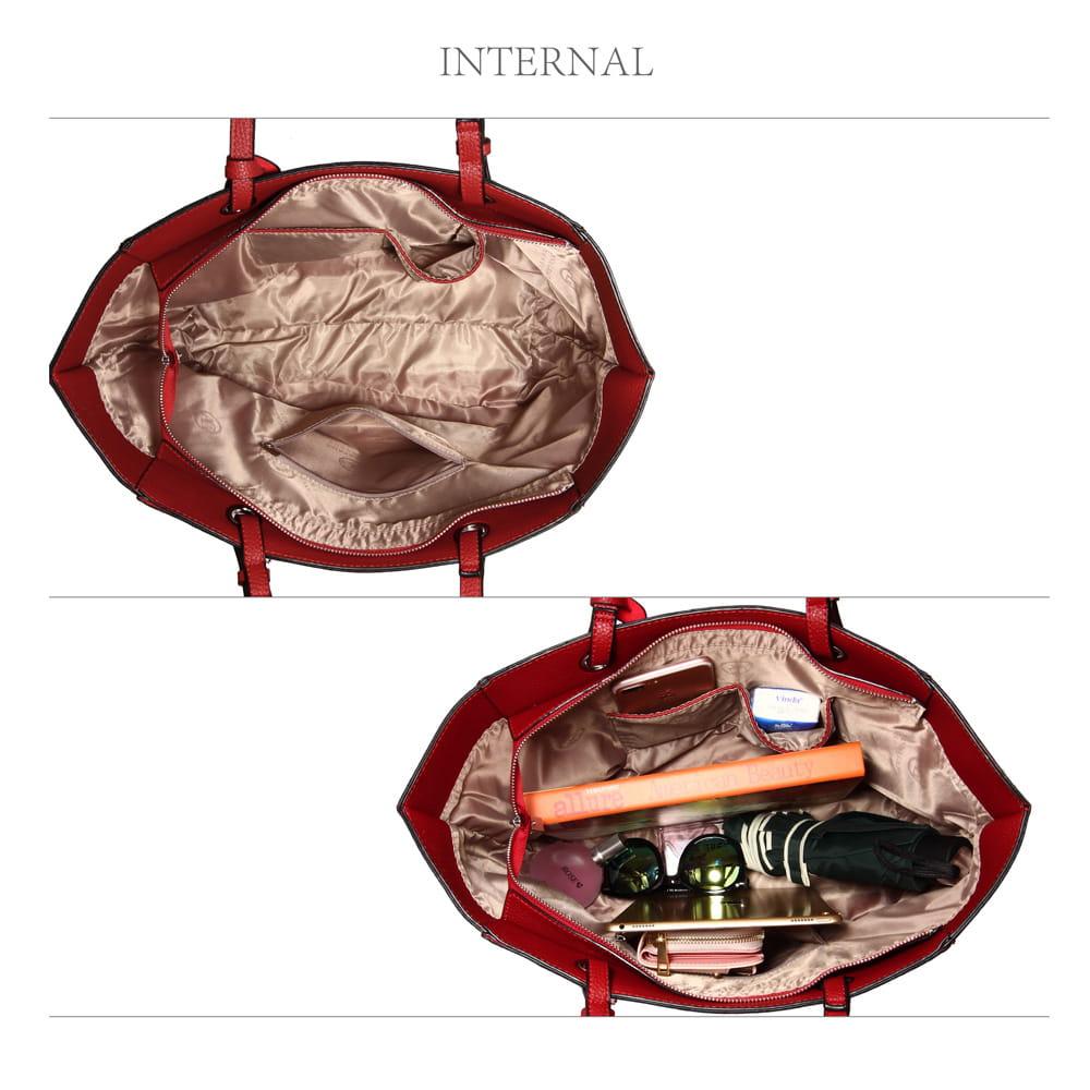 4b890082415d6 Duża elegancka torba shoper łódka czerwona Divine Wear - Moda Angielska
