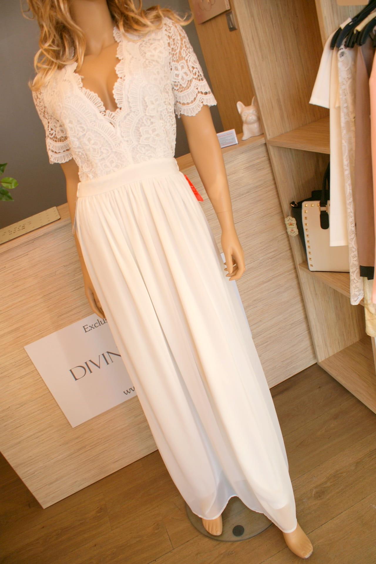 Sukienka maxi długa koronkowa biała ślub cywilny