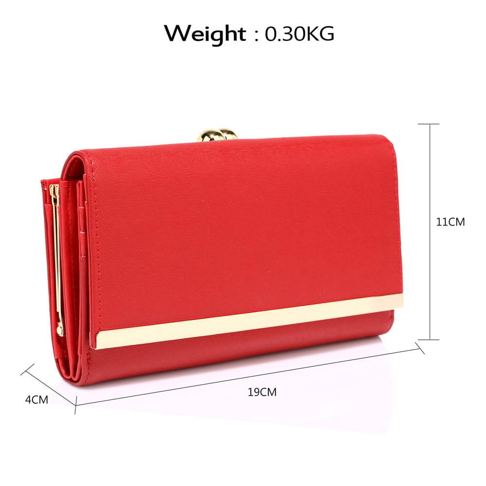 1e7da8abc9a5b Duży portfel damski z biglem czerwony Divine Wear - Moda Angielska
