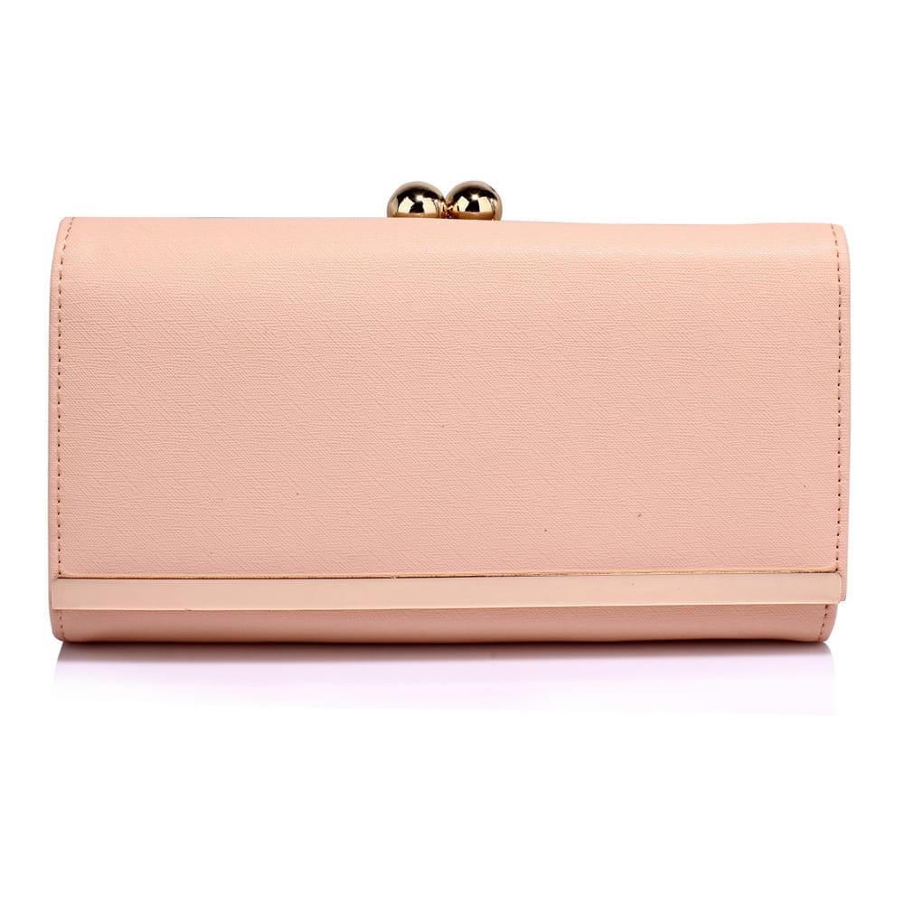afc6f52fd52e9 Duży portfel damski z biglem nude Divine Wear - Moda Angielska